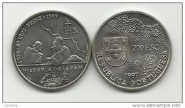PORTUGAL- 200 ESCUDOS-KM#698-1997-Pe LUIS FROIS-UNC-COPPER-NICKEL - Portugal