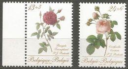 Belgium - 1988 Roses Set Of 2  MNH **    Sc B1069-70 - Belgium