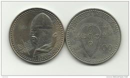 100 ESCUDOS - KM# 629 - DEATH OF KING ALFONSO - 1985 - COPPER-NICKEL - UNC - Portugal