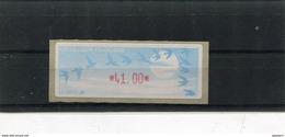 France 1 Vignette Distributeurs Type C LISA  N°YT 208 - 41.00 - 1990 «Oiseaux De Jubert»