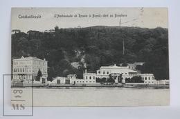 Old Postcard Turkey - Constantinople - L' Ambassade De Russie A Buyuk - Dere Au Bosphore - Posted 1910 - Turquia
