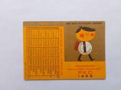 Calendar Poland Timetable School 1968 - Calendriers