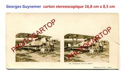 Georges GUYNEMER-Pilote-Avion-Insigne-Aviation-Fliegerei-Carton Stereoscopique-Periode Guerre 14-18-1 WK-MILITARIA- - Airmen, Fliers