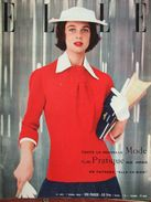 ELLE N°482 (7 Mars 1955) Toute La Nouvelle Mode Pratique - Moda
