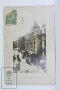 Old Real Photo Postcard Turkey - Constantinople - Grande Rue De Pera Et Nouvel Hotel Tokatlian - Posted - Turquia