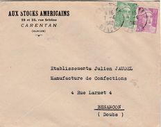 Enveloppe Commerciale 1948 / Aux Stocks Américains / Vêtements / 50 Carentan - Maps