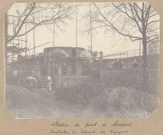Saint Denis : Construction Gare Du Pont De Soissons, 19 Nov 1912. La Plaine. Quadruplement Ligne Paris. Photo Originale - Trains