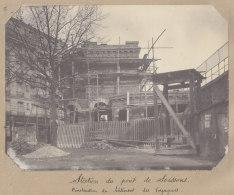 Saint Denis : Construction Gare Du Pont De Soissons, 21 Fev 1913. La Plaine. Quadruplement Ligne Paris. Photo Originale - Trains