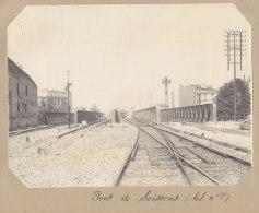 Saint Denis : Pont De Soissons, 9 Juin 1913. La Plaine. Quadruplement Ligne Paris. Photo Originale - Trains