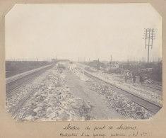 Saint Denis : Station Du Pont De Soissons, Constr. Souterrain 28 Mars 1913. La Plaine. Quadruplement Ligne Paris. Photo - Trains