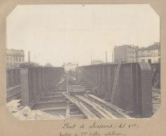 Saint Denis : Pont De Soissons, Montage Tablier Métallique 28 Mars 1913. La Plaine. Quadruplement Ligne Paris. Photo - Trains
