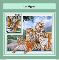 DJIBOUTI 2017 - Tigers S/S. Official Issue. - Roofkatten