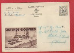 Belgique  -  Entier Postal  --  Ostende-Douvres - Entiers Postaux