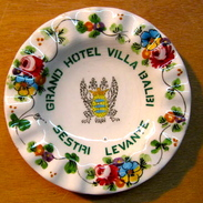 CENDRIER GRAND HOTEL VILLA BALBI SESTRI LEVANTE / RICORDO - Ashtrays