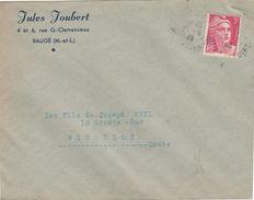 Enveloppe Commerciale 1948 / Jules JOUBERT / Confection / 49 Bauge / Maine Et Loire - Maps