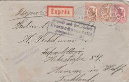Finlande Lettre Censurée Par Exprès Pour L'Allemagne 1918 - Lettres & Documents