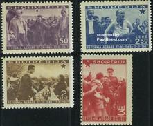 Albania 1947 Land Reforms 4v, (Mint NH), Stamps - Albania