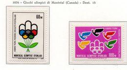 PIA  -  CIPRO TURCA  -  1976 : Giochi Olimpici Di Montreal  (Yv  20-21 ) - Estate 1976: Montreal