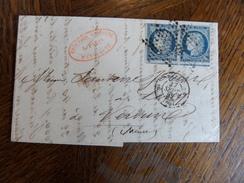 10.01.18_LAC ,de  Paris ,paire Du N°4 Avec Voisin Cote 300€ - 1849-1850 Cérès