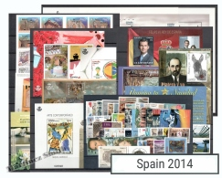 Complete Year Set Spain 2014 - 55 Values + 15 BF + 2 Booklet - Yv. 4542-4635/ Ed. 4838-4923, MNH - Años Completos