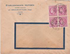 Enveloppe Commerciale 1948 / Ets HUYGEN / Confection / 60 La Croix Saint Ouen / Oise - Maps