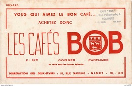 1 Buvard : LES CAFES BOB ( Niort) - Food