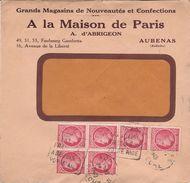 """Enveloppe Commerciale 1948 / """"A La Maison De Paris"""" / D' Abrigeon / Confection / Daguin """"Entraide..."""" / 07 Aubenas - Maps"""
