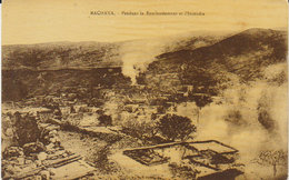 """Liban - Rachaya  1927 """"Guerre 1925 : Révolte Rebelles Druzes Contre Mandat Français """" Bombardement  Et Incendie ! - Andere Kriege"""