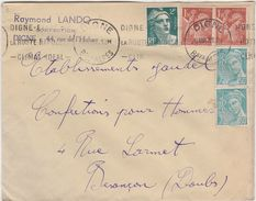 Enveloppe Commerciale 1947 / Raymond LANDO / Confection / Flamme Digne Route Nationale ../ 04 Digne - Maps