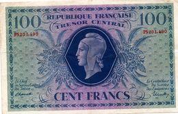 """MARIANNE DE DULAC - Effigie """"marianne De Dulac"""" Sur Billet De Banque (100F De 1943 - 1871-1952 Circulated During XXth"""