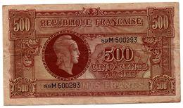 """MARIANNE DE DULAC - Effigie """"marianne De Dulac"""" Sur Billet De Banque (500F De 1945) - 1871-1952 Anciens Francs Circulés Au XXème"""