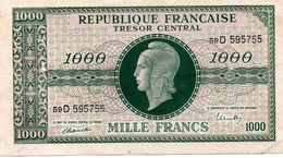 "MARIANNE DE DULAC - Effigie ""marianne De Dulac"" Sur Billet De Banque (1000F De 1945) - 1871-1952 Gedurende De XXste In Omloop"