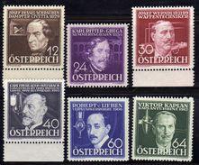 Österreich/Austria 1936 Mi 632-637 * [100118LAIII] - 1918-1945 1st Republic