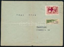 1957 Pestlőrinc Helyi Levélen Vöröskereszt 30f Fordított Felülnyomással, Rendkívül Ritka, Mindösszesen 100 Db Ismert!! ( - Stamps