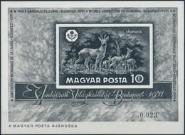 ** 1971 Vadászati Világkiállítás Blokk Feketenyomat, Luxus Minőség 0.023 Sorszámmal - Stamps