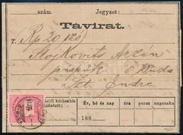 1881 Távirat 5kr Bérmentesítéssel 'BUDAPEST / Ó-BUDA' - Szent Endre - Stamps