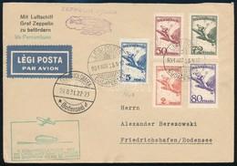 1931 Zeppelin Légi Levél 9,2P Bérmentesítéssel Brazíliába SÜDAMERIKAFAHRT 1931 MIT LUFTSCHIFF GRAF ZEPPELIN UND SONDERFL - Stamps