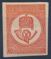 * 1871 Hírlapbélyeg Kőnyomat Sötétvörös (40.000+) - Stamps