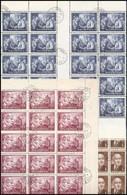 O 1952 Rákosi 50 Db Sor, Benne ívközéprészes 20-as Tömb, 20 Db Alsó üresmezős Bélyeg (44.000) - Stamps