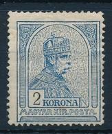 * 1908 Turul 2K (45.000) (törés / Crease) - Stamps