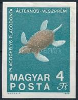 ** 1969 Földtani Intézet 4Ft Vágott Bélyeg Fekete Színnyomat Nélkül (40.000) (betapadás / Gum Disturbance) - Stamps