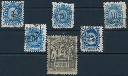 O 1873 Távírda Kőnyomat 6 Klf érték (45.000) - Stamps