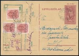 1945 12f Díjjegyes Levelezőlap Budapest Helyi Szükségtarifa (Lásd Dr Nagy Ferenc Tanulmányát Philatelica 2012/1, Illetve - Stamps