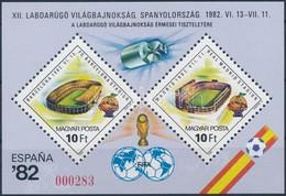 ** 1982 Labdarúgó Világbajnokság Ajándék Blokk (30.000) / Mi Block 155 Present Of The Post - Stamps