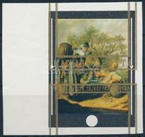 (*) 1969 Festmények 60f ívszéli Vágott Fázisnyomat, Az Arany Keret Nagyon Látványos Elcsúszásával - Stamps