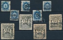 O 1874 Távírda Réznyomat Sor, Közte Szép Bélyegzések, Ritkább Fogazatok (32.000) - Stamps