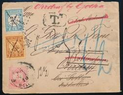 1886 5kr Levél Ohrdrufba, Majd Onnan Többször Továbbküldve Antwerpenbe, Rotterdamba, Estbe Ill. 7,5 Centtel Portózva. Ri - Stamps