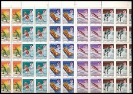 ** 1991  Téli Olimpia Teljes Sor Hajtott 50-es ívekben (20.000++) - Stamps
