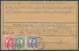 1888 Távirat Darab Színesszámú 2kr + 3kr + 5kr 'DIÓSZEG' 3kr Bal Felső Háromszögnél Után Véset Rendkívül Ritka Darab RR! - Stamps