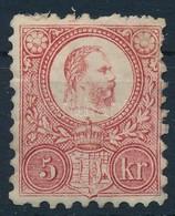 * 1871 Réznyomat 5kr Javított Gumival (27.500) - Stamps